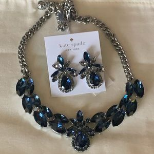 Kate Spade! Statement Crystal Necklace & Earrings